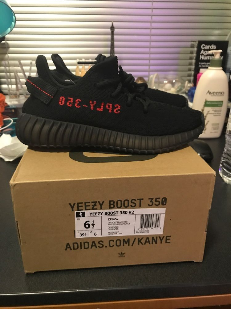 6a68e4094 yeezy boost 350 v2 bred Size 6.5  fashion  clothing  shoes  accessories   mensshoes  athleticshoes (ebay link)