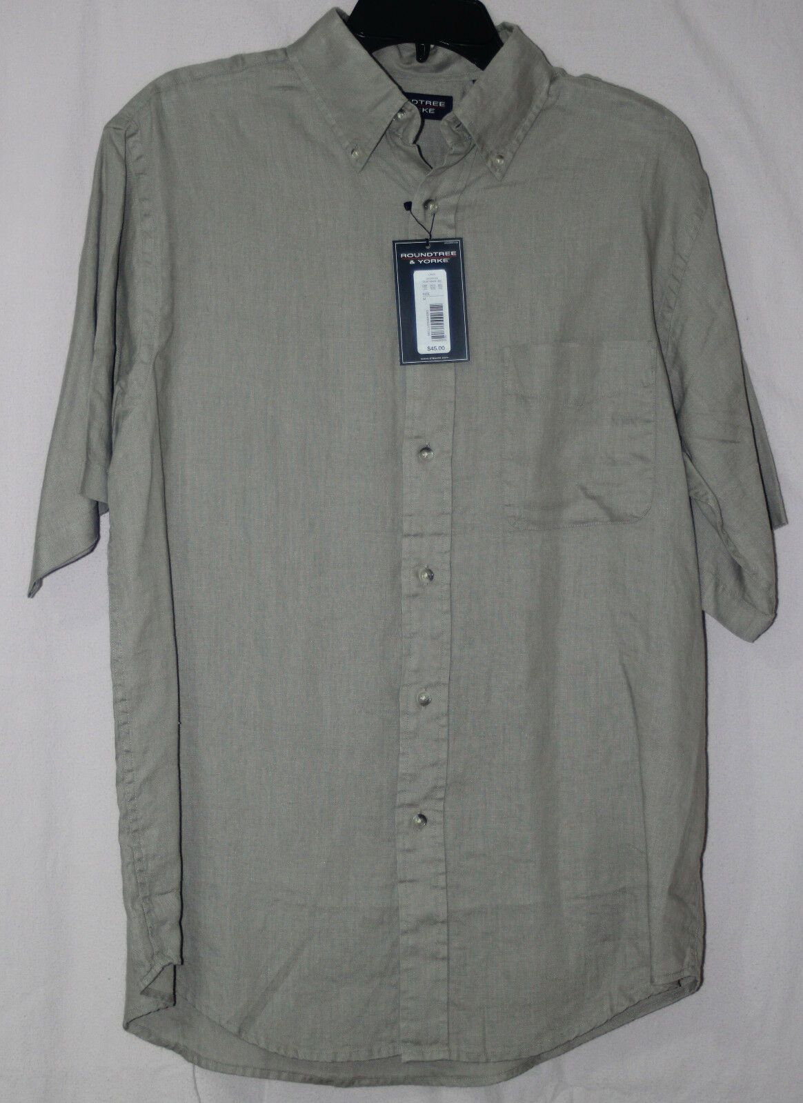 Roundtree Yorke Men S Short Sleeve Button Linen Shirt 100 Linen Men S Size M L Xl Orange And Various Shirts Linen Shorts Men Short Sleeve