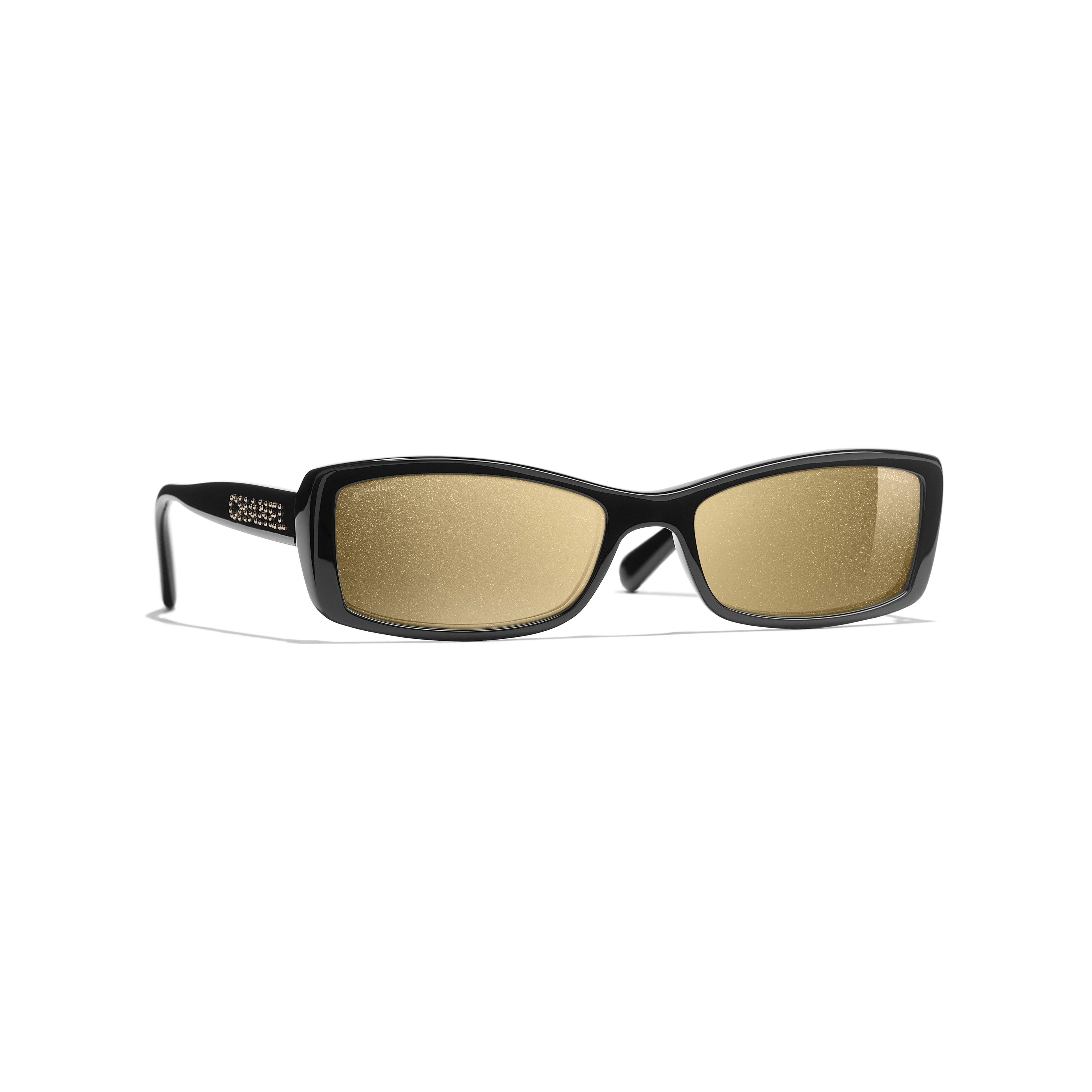 Madeline Black Slim Rectangular Frame Dark Lens Sunglasses