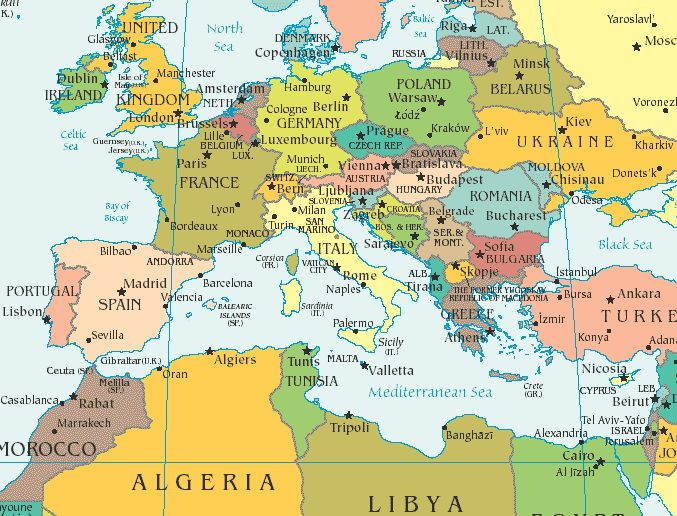 map of europe and morocco It's time for the next backpacking journey! I'll be spending three