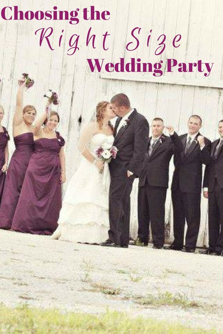 Choosing the Right Size Wedding Party  Wedding Nontraditional
