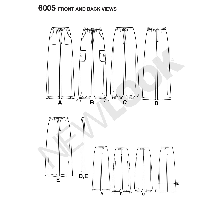 New Look Pattern 6005 Misses\' Pants | Sewing | Pinterest