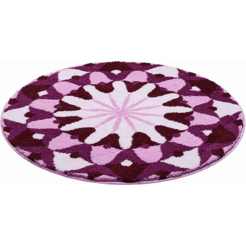 Tapis De Bain Knowledge Violet Rond 80 Cm Couleur Pourpre Reference M2680 043001192