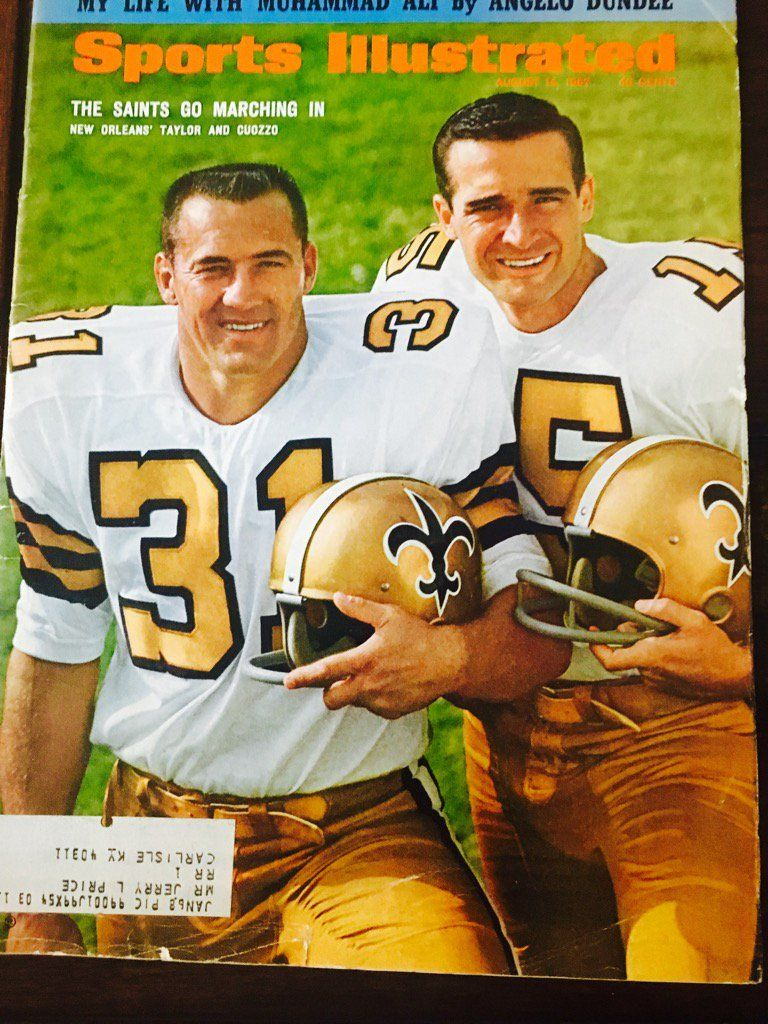 1967 The Expansion New Orleans Saints Made The Cover Of Sports Illustrated Jimmy Taylor Gary Cuozz New Orleans Saints Sports Illustrated Covers Nfl Saints