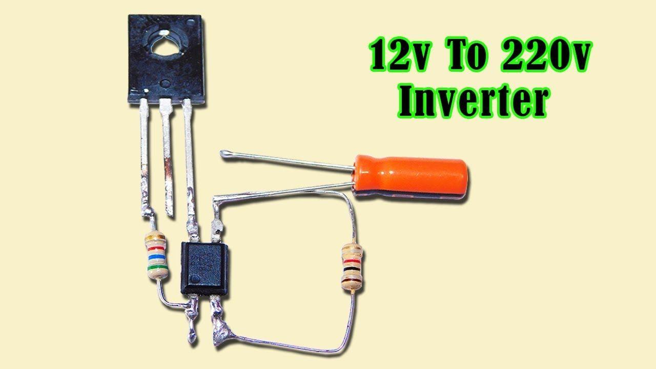 12v to 220v Inverter Circuit Using Optocoupler Very Easy