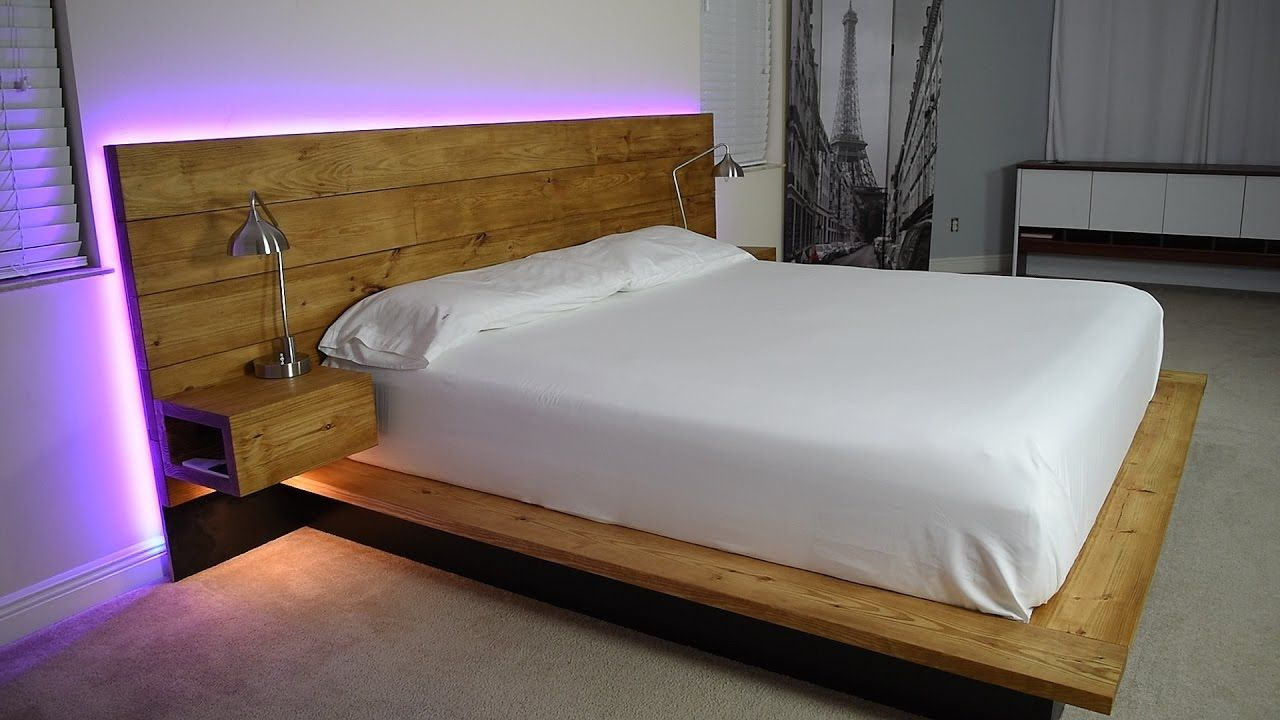 Diy Platform Bed With Floating Night Stands Diy Platform Bed