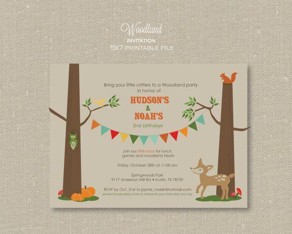 Woodland Party Invitations Choice Image invitation templates free