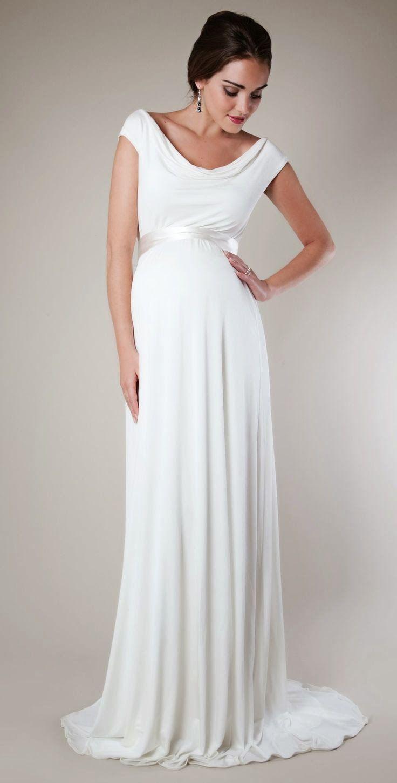 simple and elegant #maternity wedding gown | Wedding | Pinterest ...