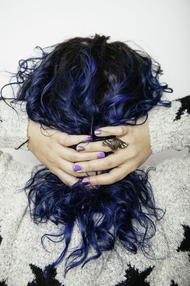 Unicorn hair donut care vibrant blue overtone conditioner ftw