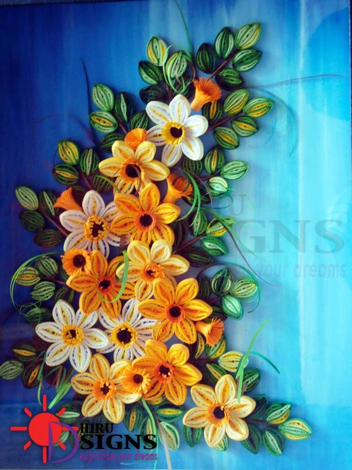 Quilled Floral Swag By Haru Eco Design Fb Paper Quilling