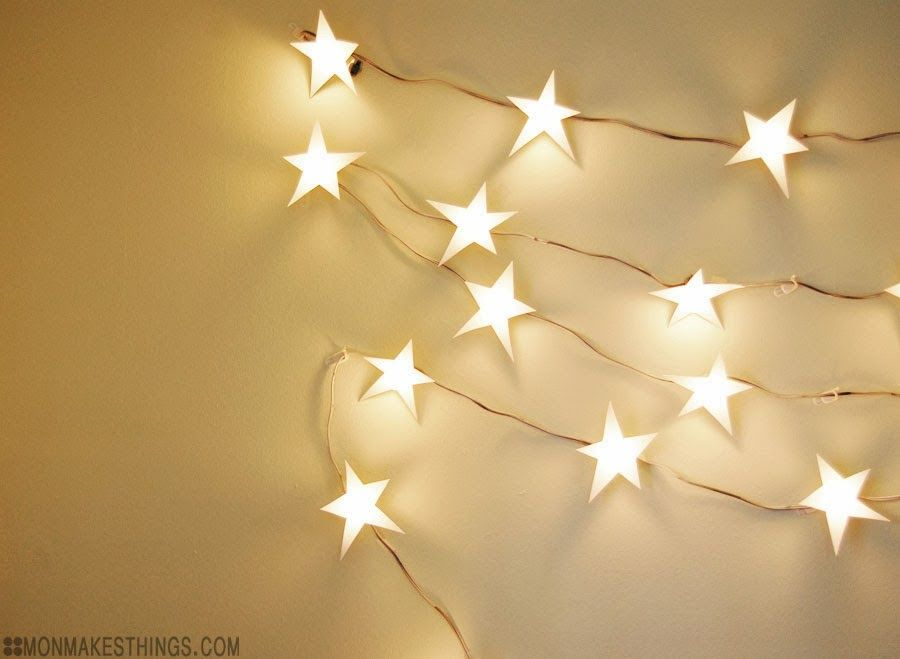 mon makes things: Star Light Star Bright Light Garland