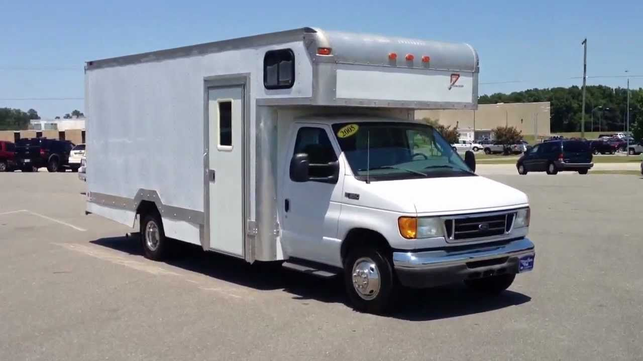 2005 Ford E 350 Box Truck Diesel Only 5 000 Miles For Sale Truck Camper Camper Conversion Trucks