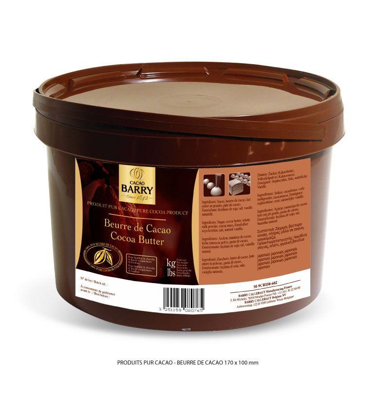 beurre de cacao barry pot de 850 g chocolat p tisserie vente achat acheter cuisine. Black Bedroom Furniture Sets. Home Design Ideas
