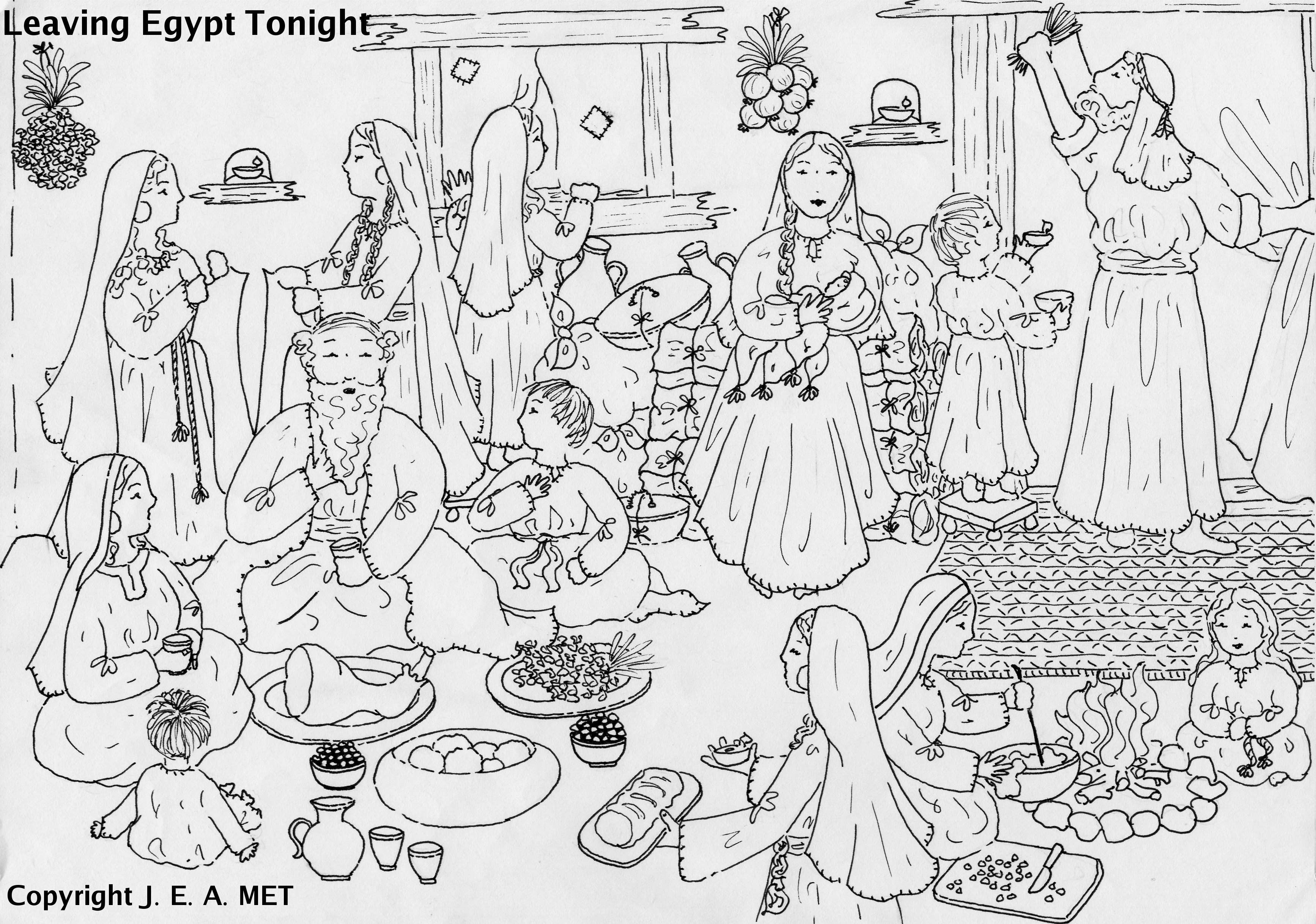 Leaving Egypt Tonight Exodus 12 Egypt Crafts Coloring Pages Church Crafts