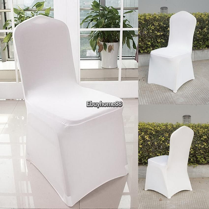 Details About 300pcs White Spandex Lycra Chair Covers For Wedding