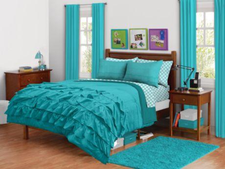 Ensemble Douillette A Volants Turquoise Walmart Ca Chambre