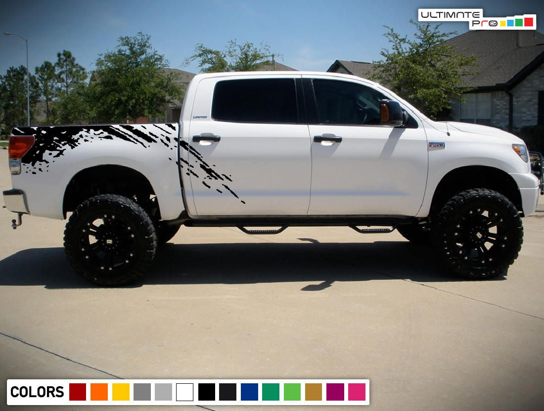 Decal graphic sticker side stripe kit for toyota tundra 4x4 offroad sport grille ebay