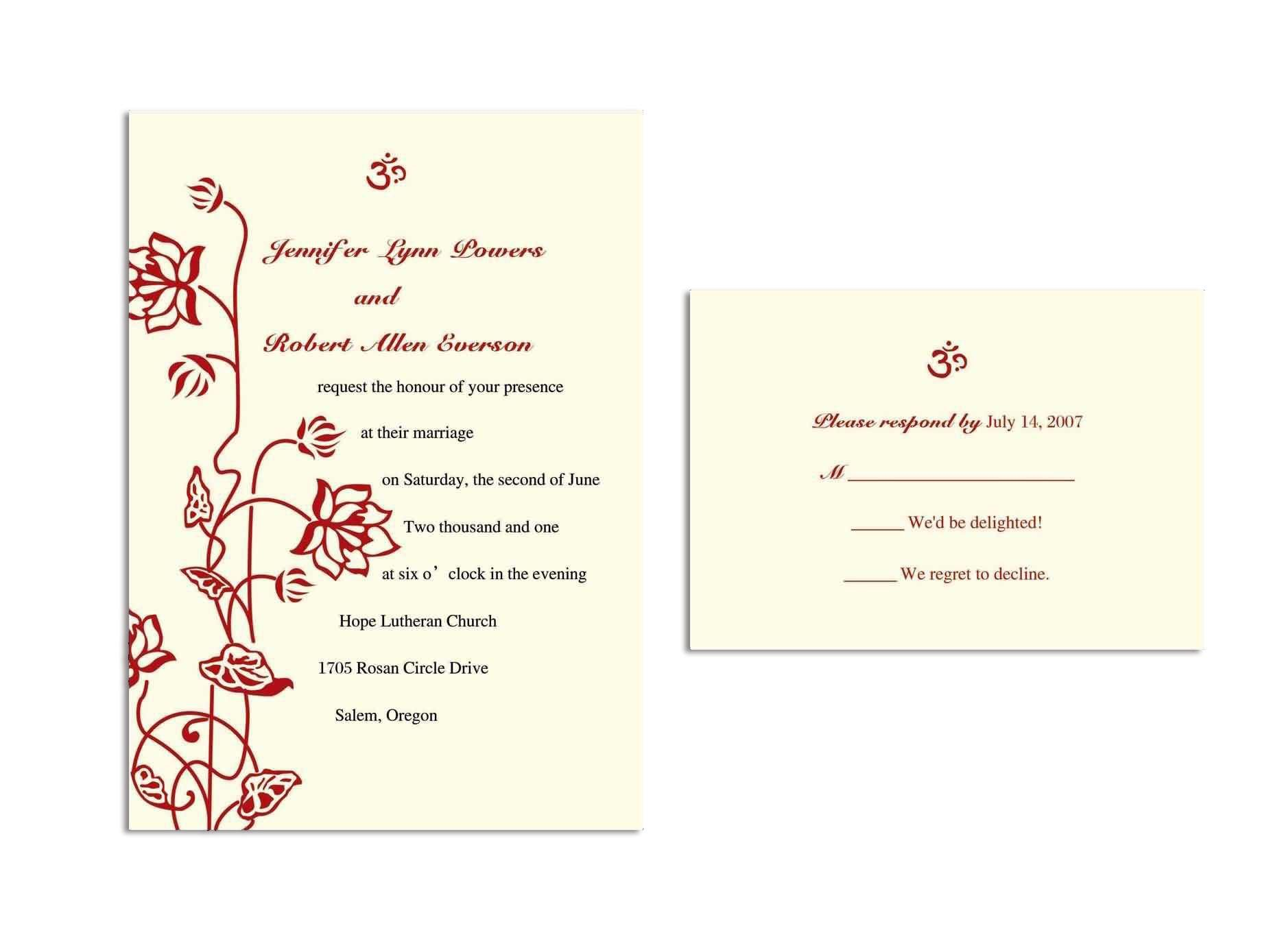Wedding Invitation Response Card Wording Superb