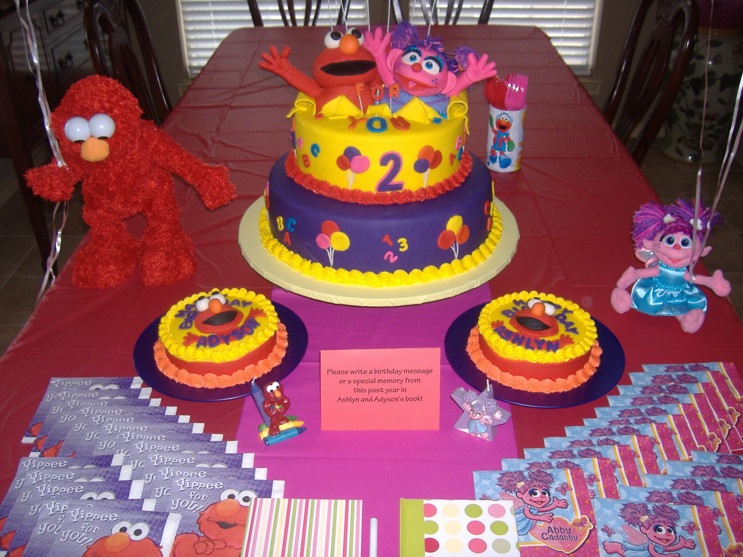 Finally Found A Website With An ElmoAbby Party Cant Wait To Get - Elmo and abby birthday cake