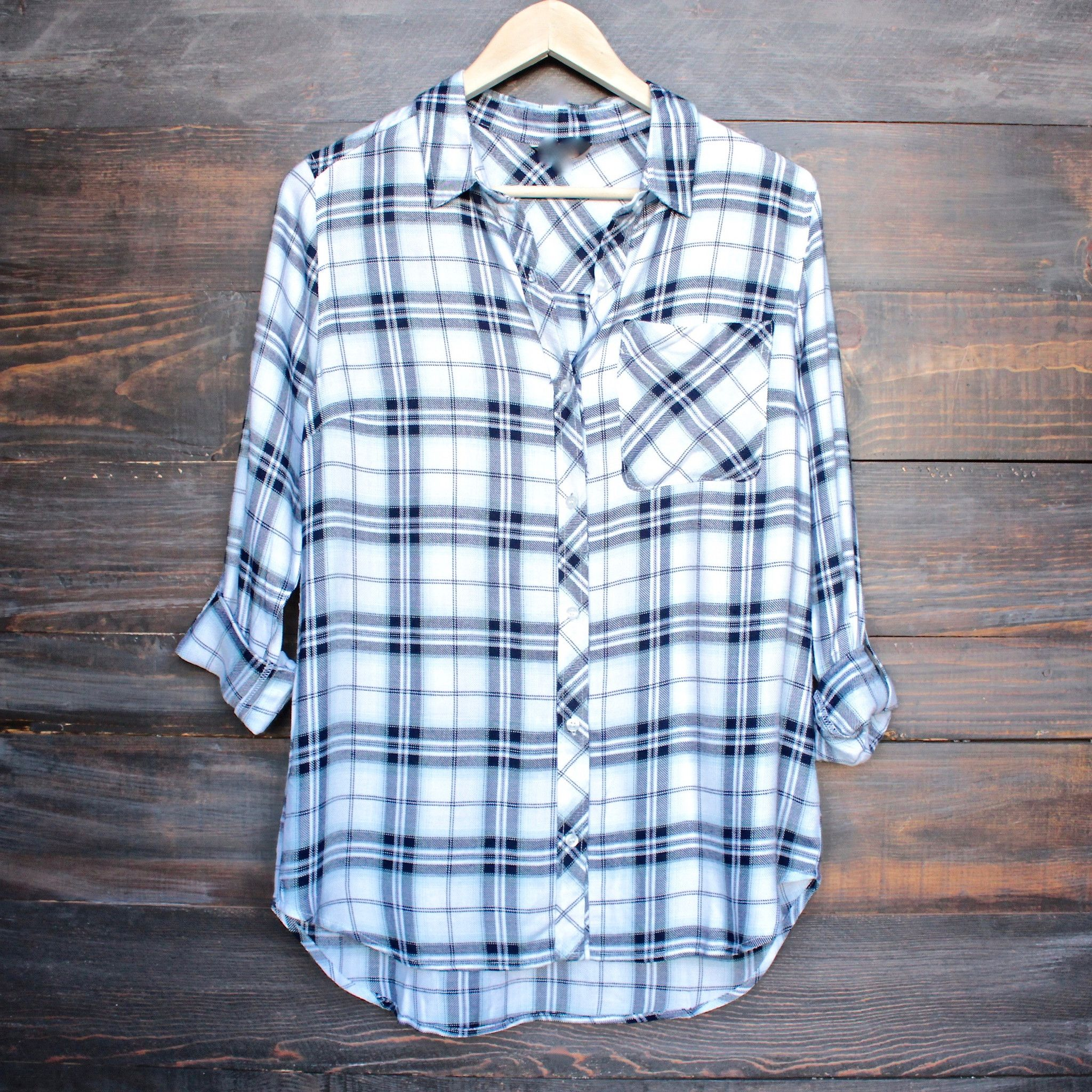 Flannel shirt women  Working at the rails button up plaid shirt more colors  Plaid