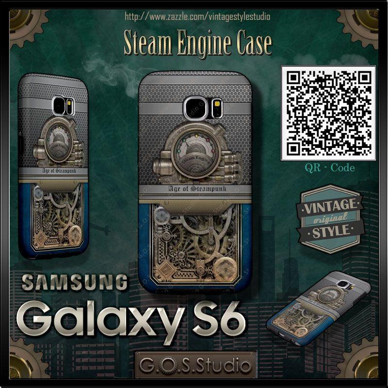 Samsung Galaxy S6 Case. ★Steam Engine★ ★ http://www.zazzle ...