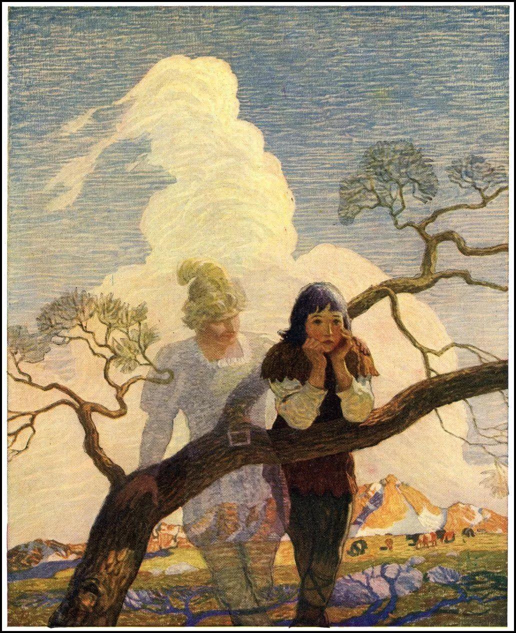 Newell Convers Wyeth The Mysterious Stranger | Иллюстрации ...