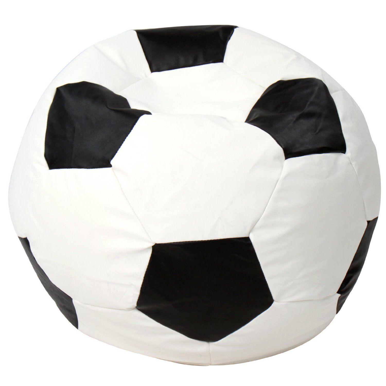 fauteuil pouf en forme de ballon de football taille m plusieurs tailles au choix. Black Bedroom Furniture Sets. Home Design Ideas