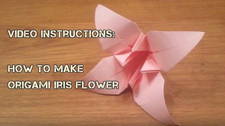 How To Make Origami Iris Flower Video Tutorial Diy Origami