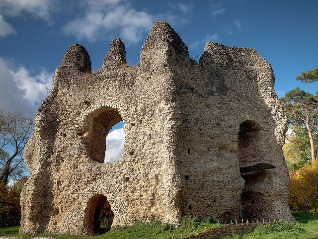 The ruins of 13th century King John's Castle near Odiham, Hampshire, England. The 'Castle' was actually a fortified octagonal hunting lodge,  surrounded by moats. King John rode from here to sign Magna Carta at  Runnymede.