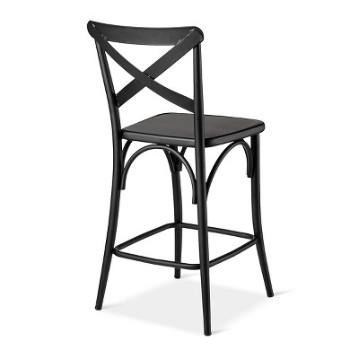 Terrific 24 French Bistro High Back Counter Stool Black In 2019 Download Free Architecture Designs Intelgarnamadebymaigaardcom