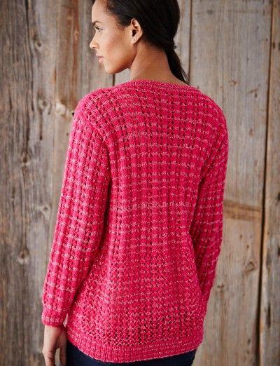 Knitting Patterns For Sport Weight Yarn : Mixed Stitch Cardigan - Patterns Yarnspirations Sport ...