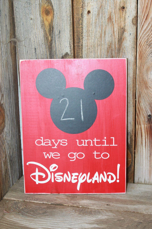 MadeAt94 Holiday DisneyLand Paris Florida Holiday Countdown Sign Chalkboard Kids Gift