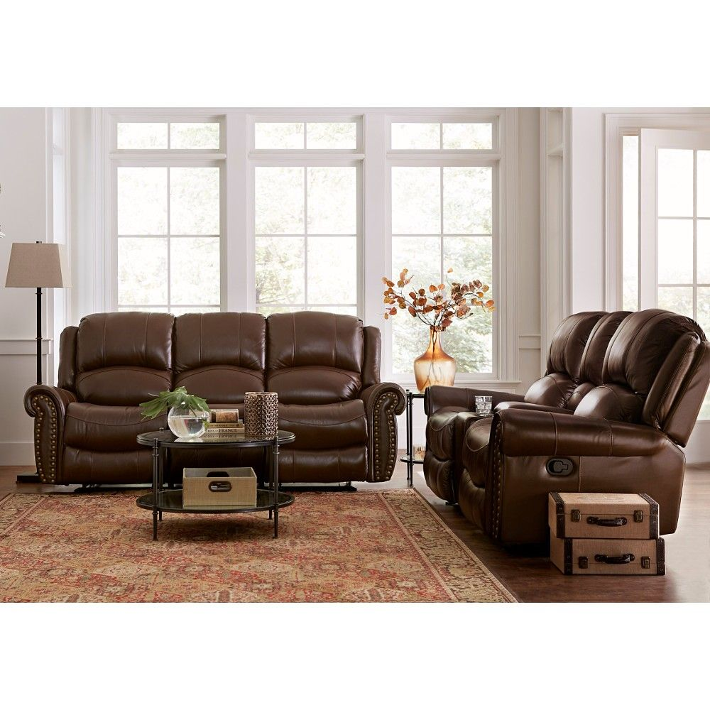 Saddleback Leather Living Room Reclining Sofa And Loveseat