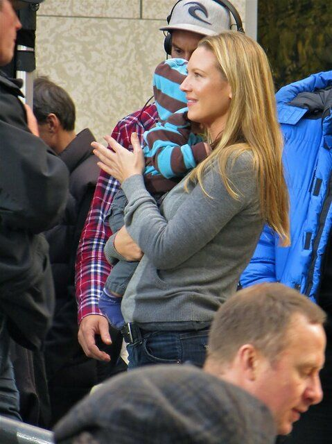 Anna Torv Holding A Crew Members Baby----Awww