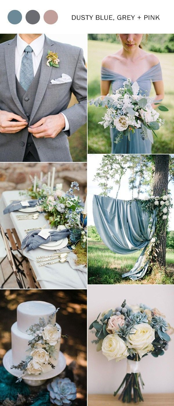 Dusty Blue And Pink Wedding Color Ideas 2018 Weddings Weddingcolors Weddingtrends Weddingcolors2018