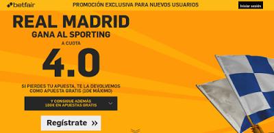 el forero jrvm y todos los bonos de deportes: betfair Real Madrid gana Sporting supercuota 4 Lig...