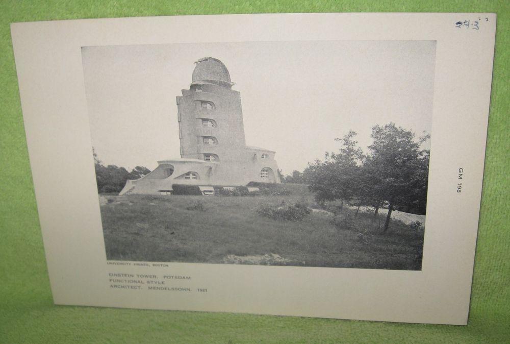 Erich Mendelsohn's Einstein Tower observatory, Potsdam, Germany, 1921: Building #Vintage