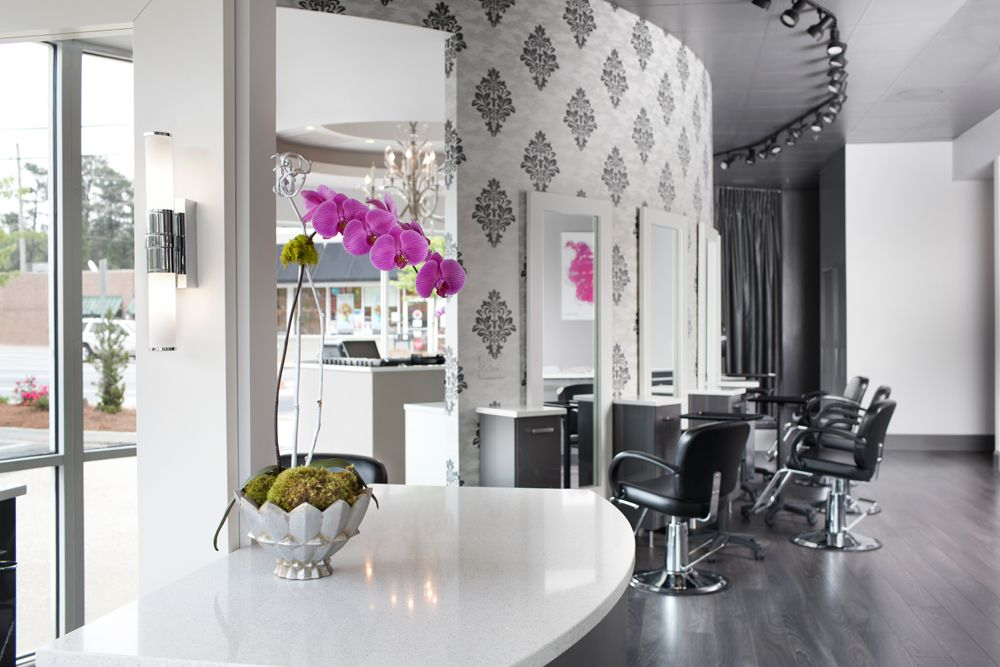 Lotus hair artisans in atlanta salontour salon atlanta decor interiordesign salon tours for Salon interior design software