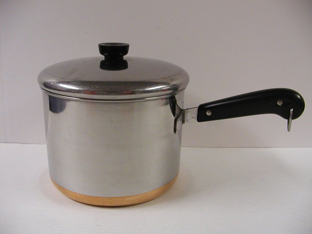 Vintage Revere Ware 5 Quart Copper Bottom Saucepan Pre 1968 Revere Ware Kitchen Cookware Cookware