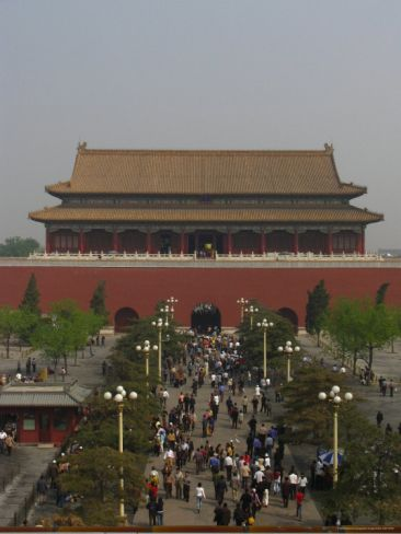The Tiananmen Gate Seen from Inside the Walls