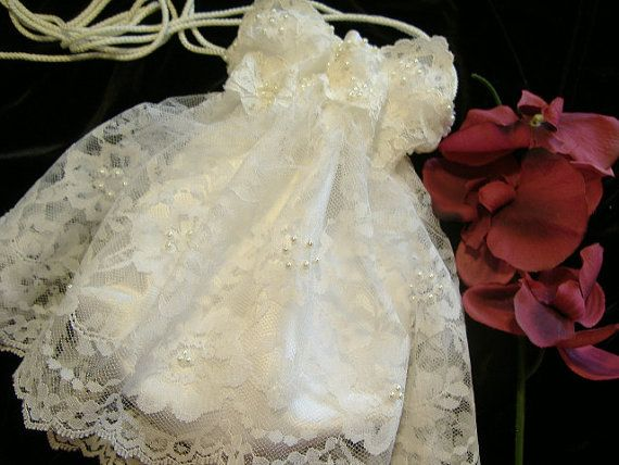 WEDDING BRIDAL Ivory Drawstring Bag w/ Ivory Double Lace, Keepsake ...