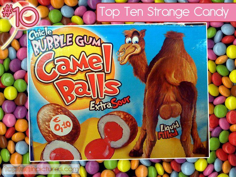 strange candies: Camel balls