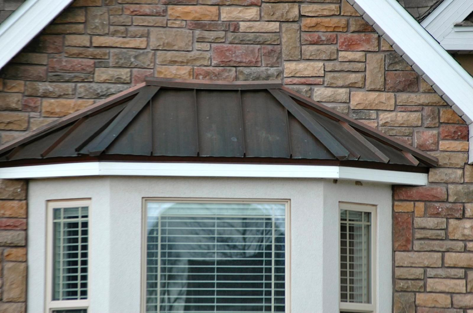 Pure Copper Accent Bay Window, Idaho Standing Seam Metal