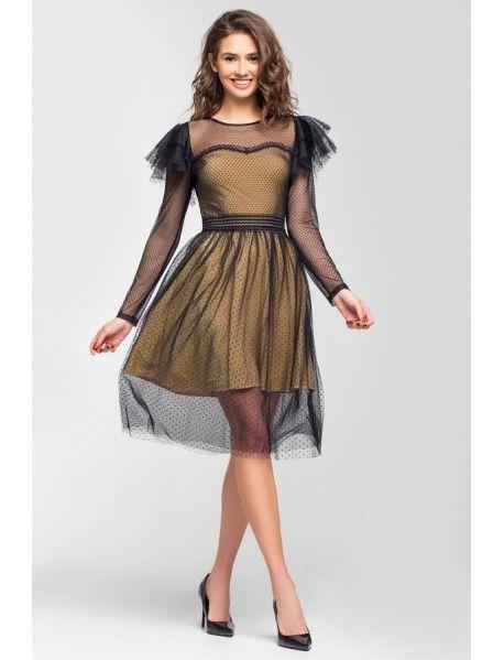3323281b473c9e1 Нарядное платье из фатина и сетки в черный горох, на трикотажной подкладке.  Рост мод… | Новинки нашего он-лайн магазина (Novelties of our on-line Shop)  ...