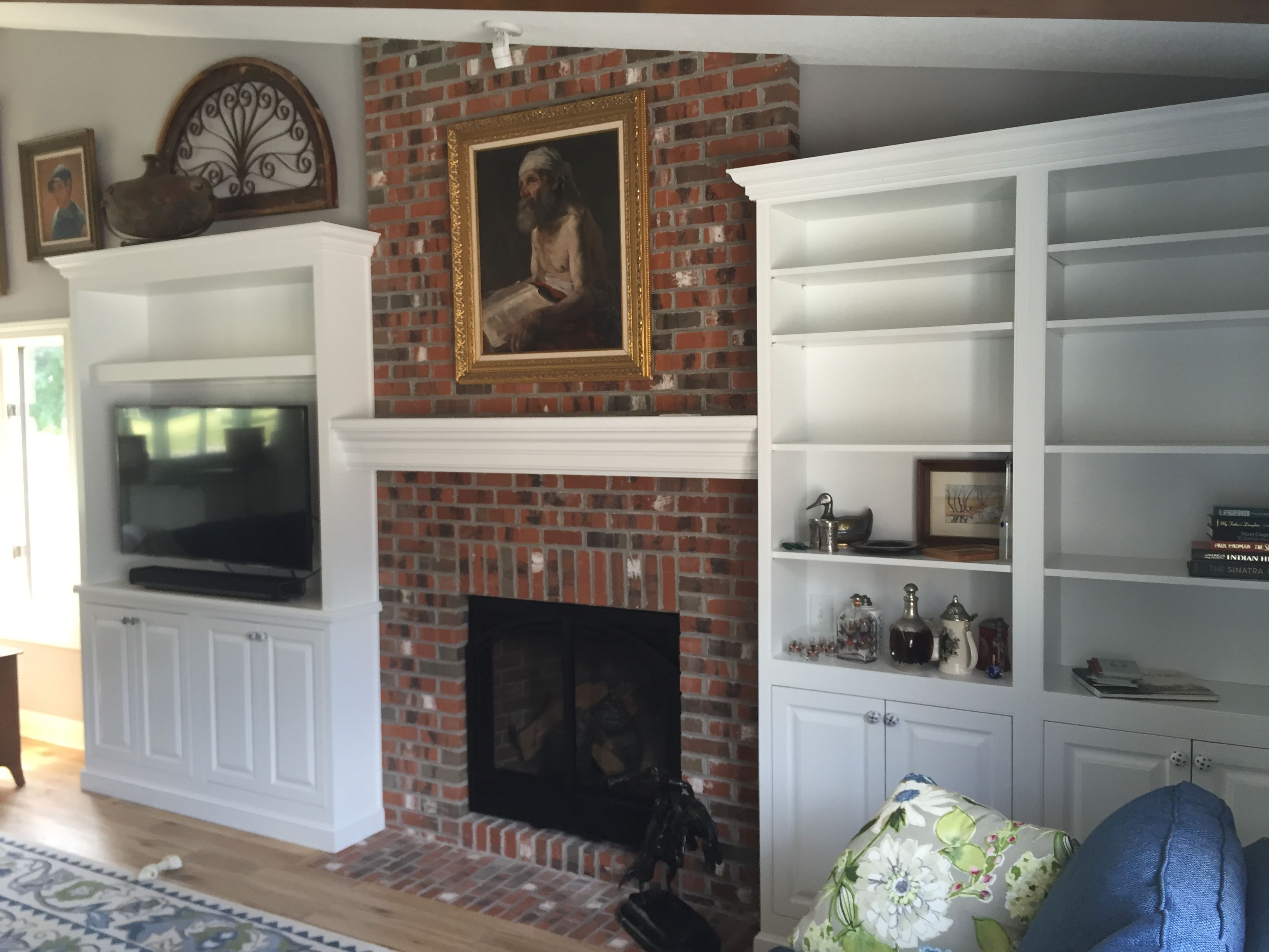 In This Findlay, Ohio, Remodel The Cabinets Were Used In A Creative Way To  Create An Entertainment Center In The Living Room. Britany Grieger Of  Modern ...
