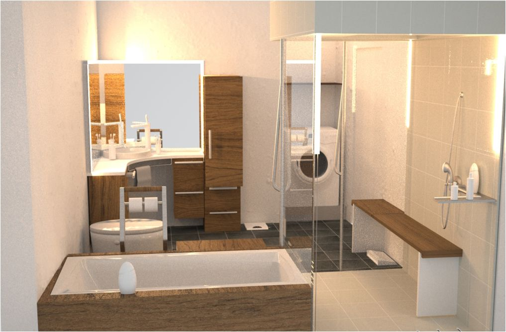 Natural Universal Bathroom Design Listed In: Smart Bathroom