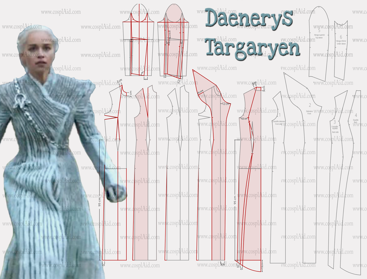 daenerys targaryen coat patrons pinterest cosplay. Black Bedroom Furniture Sets. Home Design Ideas