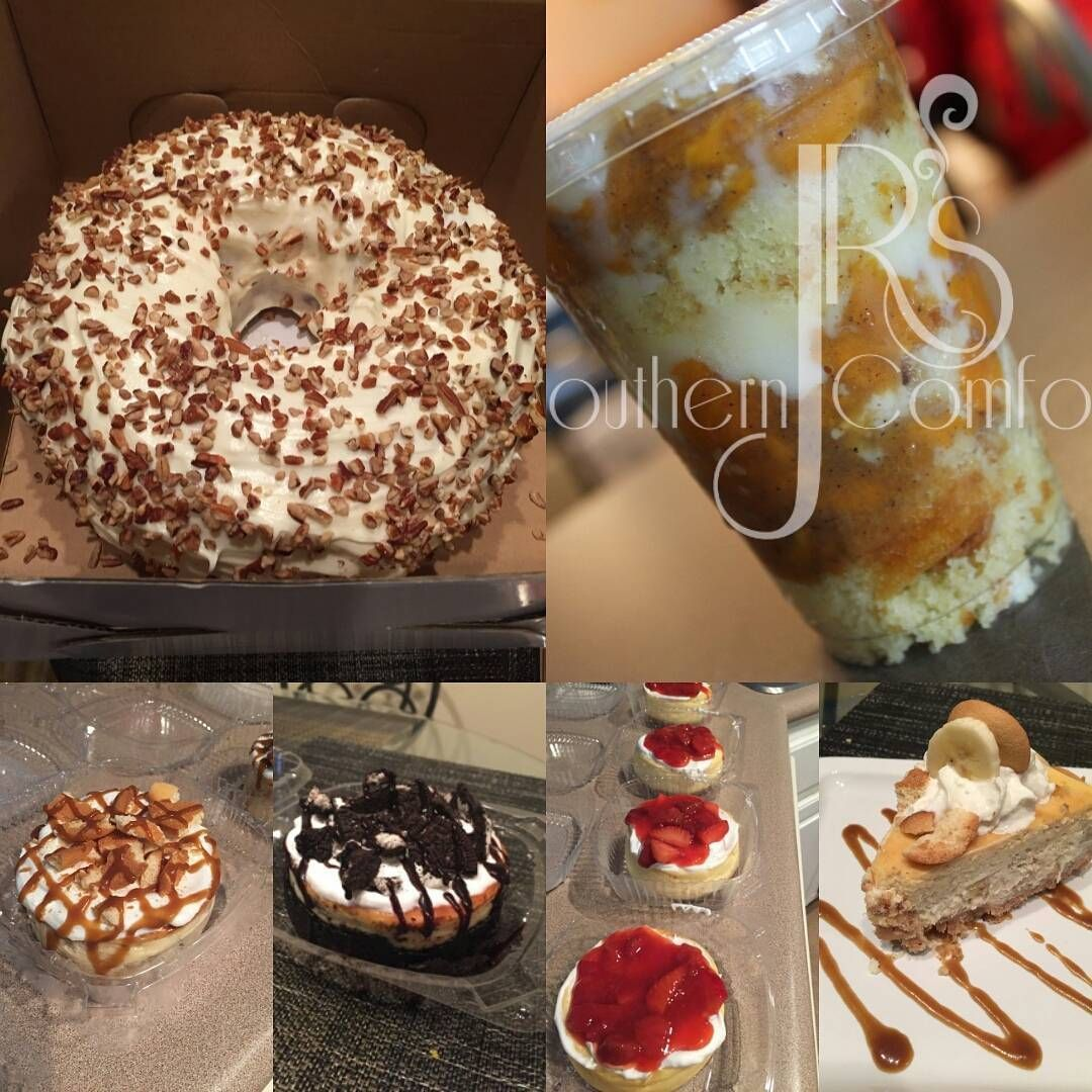 Thanksgiving is around the corner!!! Get your dessert orders in fast!!!! All Orders Need To Be In By Mon.Nov. 21!!! All Orders Must Be Paid In Advance To Guarantee Your Dessert!!!!Inbox me for more info  Dessert List _______________________________________  Oreo Cheesecake  Banana Pudding Cheesecake  Strawberry Cheesecake  Red Velvet Marble Pound Cake  Vanilla Pound Cake  Chocolate Pound Cake  Banana Pudding  Apple Cobbler  Peach Cobbler  #jrsoutherncomfort #blackbusiness #atlanta #atl #dessert #peachcobblerpoundcake
