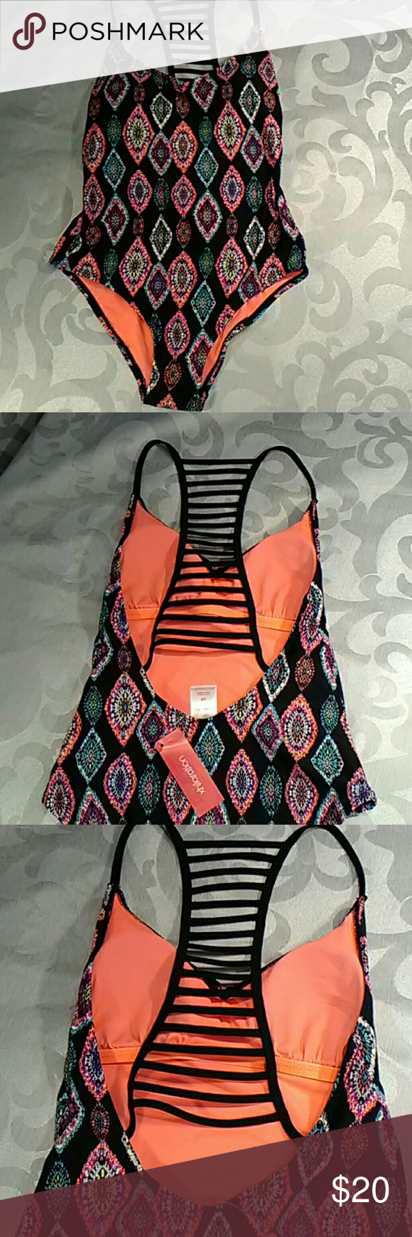 47a1c5dd771c2 Xhilaration one piece bathing suit Multi colored one piece. New with tags! Xhilaration  Swim One Pieces