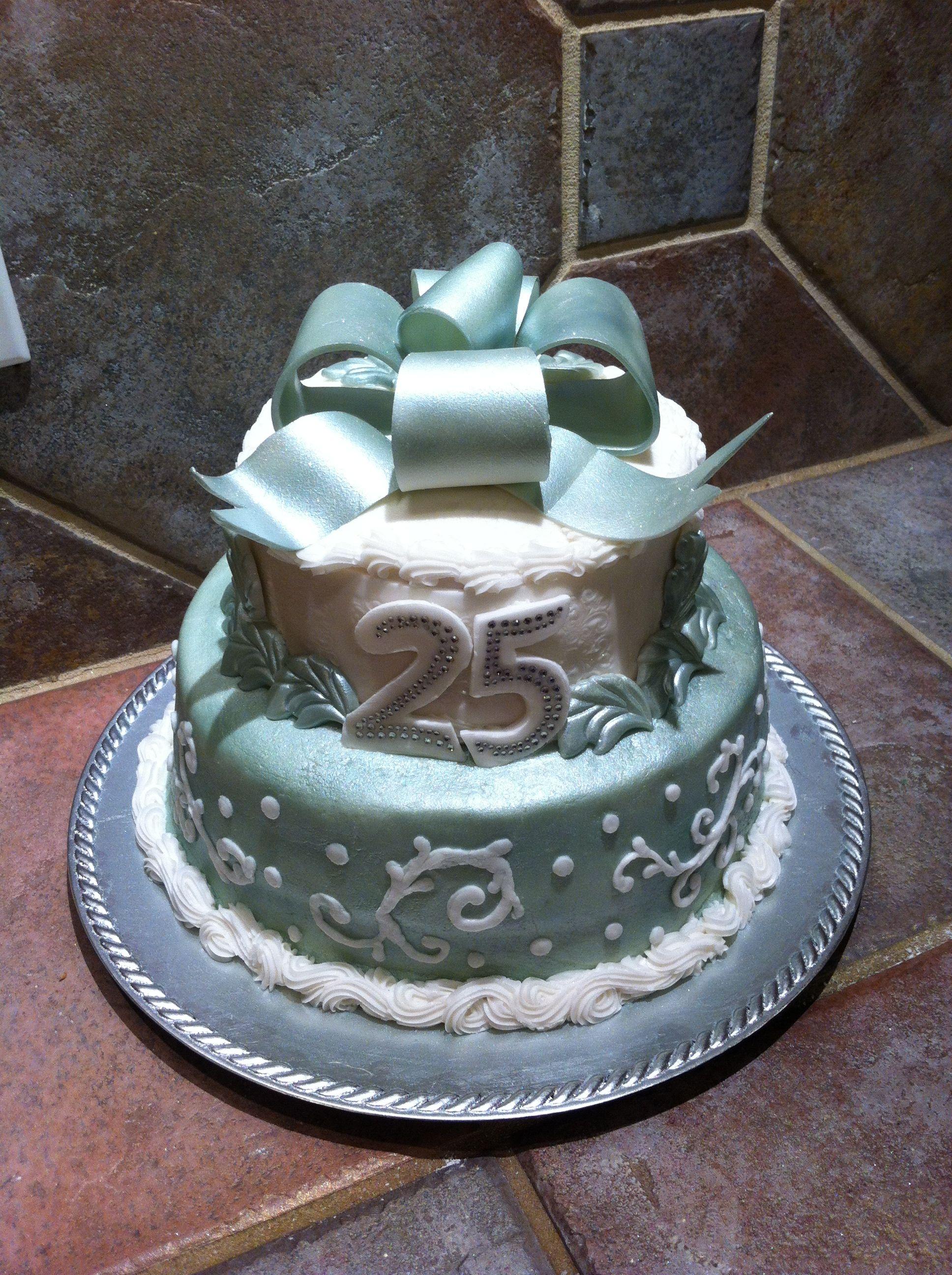 25th Anniversary cake   25 anniversary cake, Cake, 25th ...